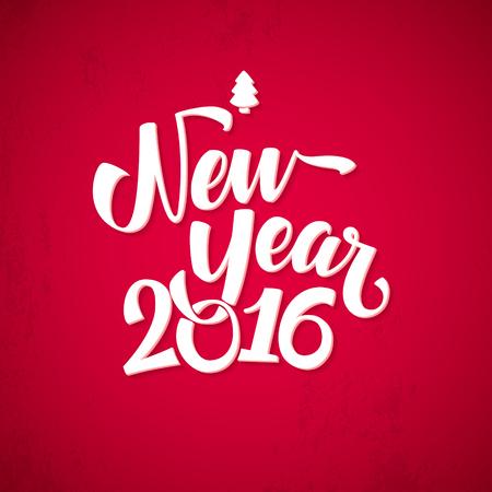nouvel an: Bonne Contexte du Nouvel An. Belle conception élégante de texte de bonne année Illustration