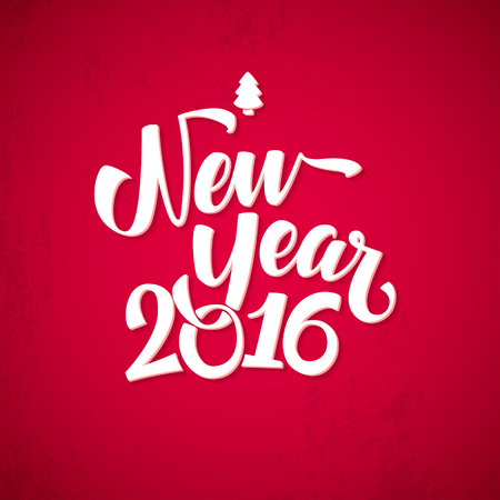 Happy New Year Background. Beautiful elegant text design of happy new year