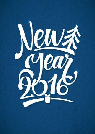 plastic christmas tree: Happy New Year Background. Beautiful elegant text design of happy new year