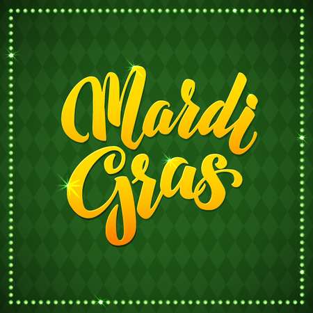 mardi gras: Mardi Gras Carnival Calligraphy Poster.  Vector illustration Calligraphic Greeting card. Mardi Gras type treatment