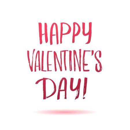 careless: Happy Valentines Day! Careless calligraphic inscription in red letters on a white background