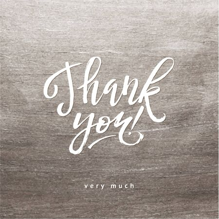 shine silver: Shine Silver Foil Thank You Card. White  Calligraphy Letters. Illustration