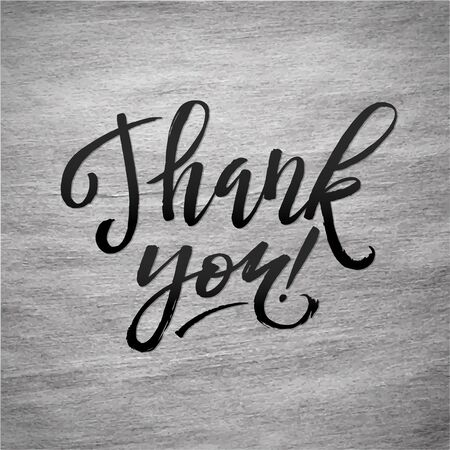 shine silver: Shine Silver Foil Thank You Card. Black Calligraphy Letters. Thank You Hand lettering handmade vector calligraphy Illustration