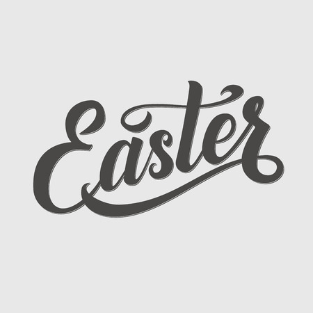 typographical: Easter Typographical Background. Lettering and Calligraphy Card. Illustration