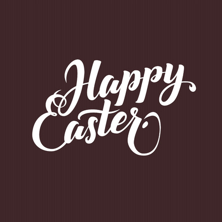 typographical: Happy Easter Typographical Background. Lettering Calligraphy Card