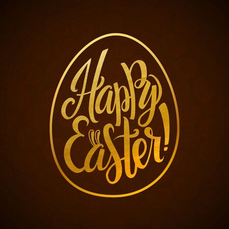 and he shines: Gold Foil Happy Easter Greeting Egg Card.