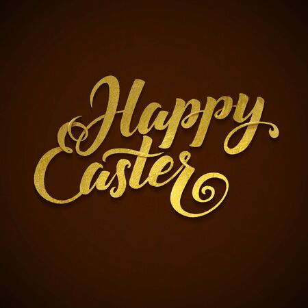 he is a traditional: Gold Foil Happy Easter Greeting Egg Card.