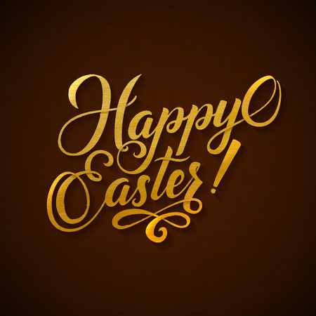 he is beautiful: Gold Foil Happy Easter Greeting Egg Card.
