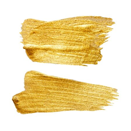 gold metal: Gold Metal Foil Glitter Brush Stroke. Golden Stroke Vector Design Illustration. Foil Shiny template. Pearl Gloss Design. Watercolor Metallic Paint Texture
