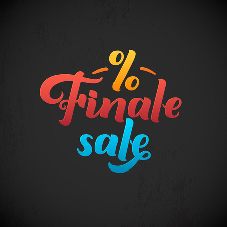 finale: Finale Sale Inscription. Calligraphy lettering. Typography Vector Background. Handmade calligraphy. Easy paste to any background Illustration
