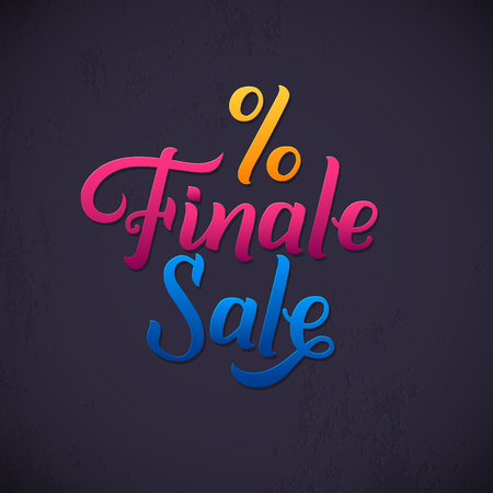 finale: Finale Sale Inscription. Calligraphy lettering. Typography Vector Background. Handmade calligraphy. Easy paste to any background.