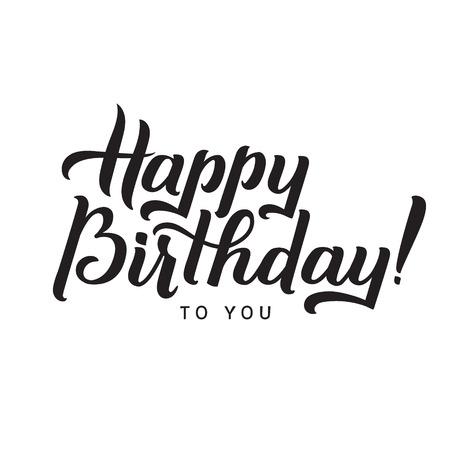 Feliz cumpleaños a la tarjeta de felicitación Usted caligrafía. Letras de la mano - la caligrafía, diseño.