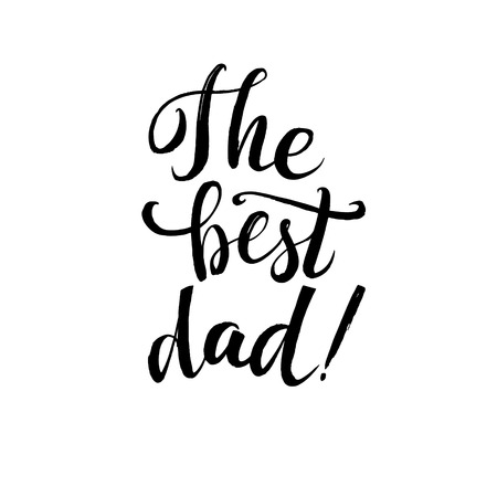 hapy: Hapy Fathers Day Black Greting card. Ink Inscription. Greeting card template for Father Day. Vector illustration