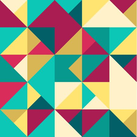 colorize: Abstract Geometric Seamless Pattern. Modern stylish texture. Repeating geometric tiles.