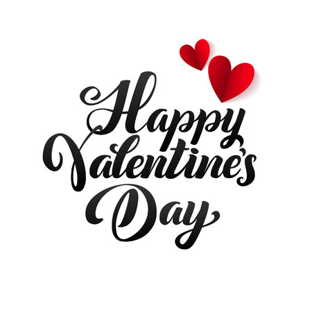 Feliz día de San Valentín tarjeta. Ilustración vectorial