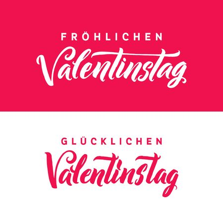 Happy valentines day german black and pink lettering greeting german black and pink lettering greeting card white background hand drawn m4hsunfo