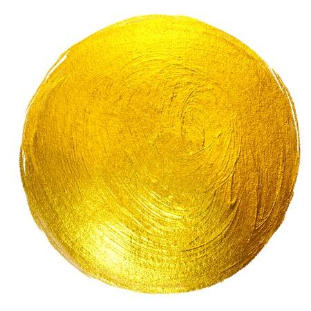 Goldfolie-runde glänzende Farbfleck-Hand gezeichnete Raster-Illustration. Standard-Bild - 70969198
