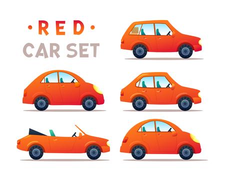 CITY CARS SET. Vectores