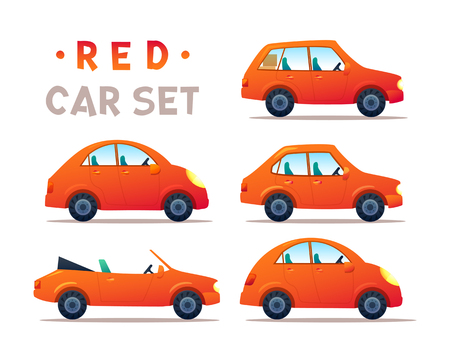CITY CARS SET. Illustration