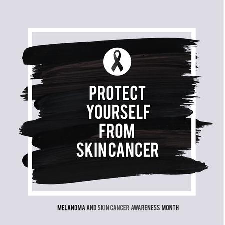 be aware: SKIN CANCER AND MELANOMA AWARENESS MONTH. Illustration