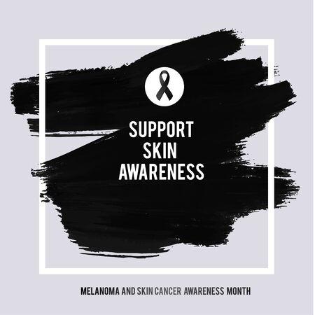 SKIN CANCER AND MELANOMA AWARENESS MONTH. Çizim