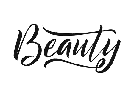 Beauty typography square poster vector lettering. Calligraphy phrase for gift cards, scrapbook, beauty blogs.