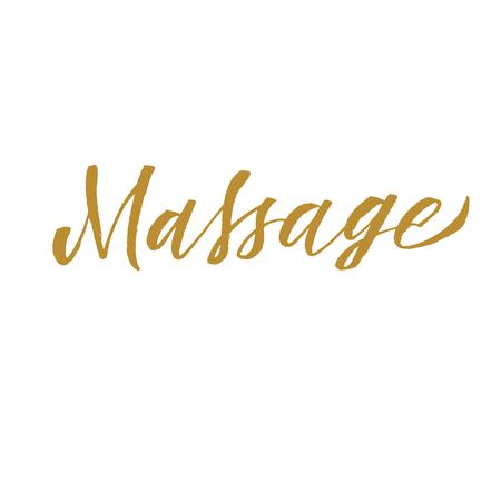 Massage hand lettering. Banque d'images - 102081720
