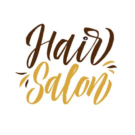 Hair salon. Logo Beauty Vector Lettering. Custom handmade calligraphy. Vectores