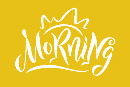 Chocolate good morning text made of chocolate vector design element Vectores
