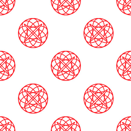 Abstract seamless texture pattern red color of  balls design Illustration