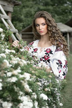 ukrainian: Ukrainian girl in the village