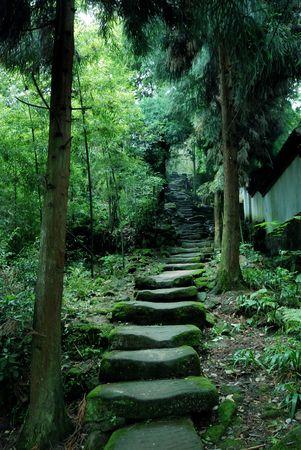 stepping stone: mountain paths Stock Photo