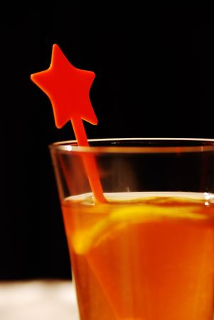 A glass of orange juice Stock Photo