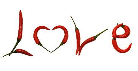 Pepper Letter LOVE photo