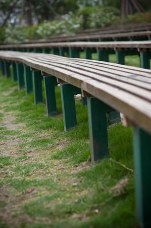 extend: wood bench Extend Stock Photo