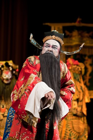 long beard: china opera man with long beard