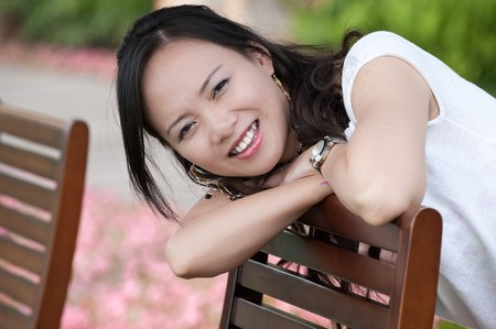 asian woman tooth smile Stock Photo - 7346508