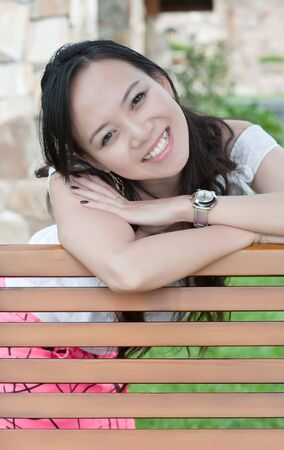 asian woman tooth smile Stock Photo - 7346526