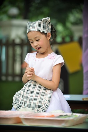 cute little girl Chef photo