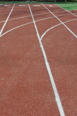 running track lines photo