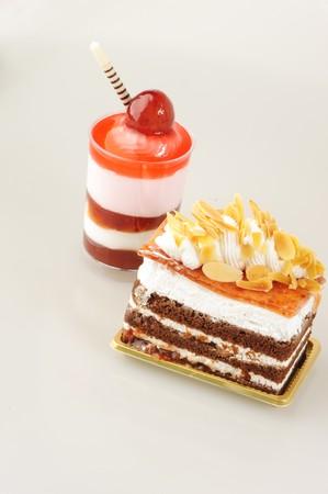 Ice cream and cake Stock Photo - 7910915