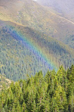 Rainbow mountain photo
