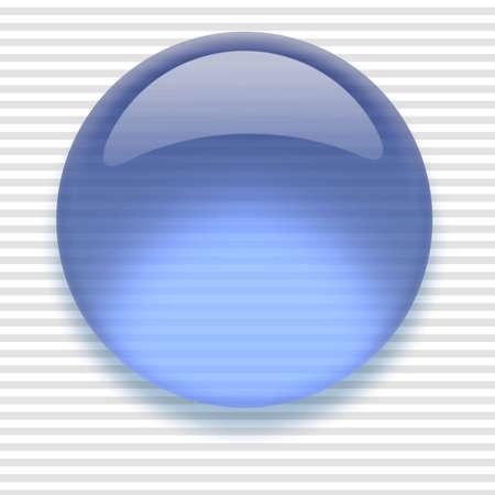 Shiny transparent high-resolution Aqua button with shadow