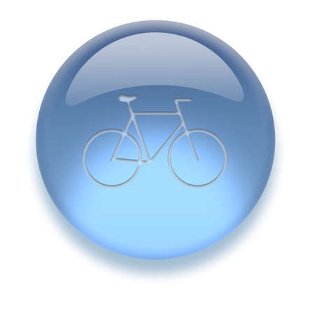 Shiny transparent high-resolution Aqua Icon with shadow, isolated on white. Icon color can be easily changed with HueSaturation