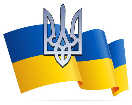 trident: Ukrainian Flag and 3D Trident