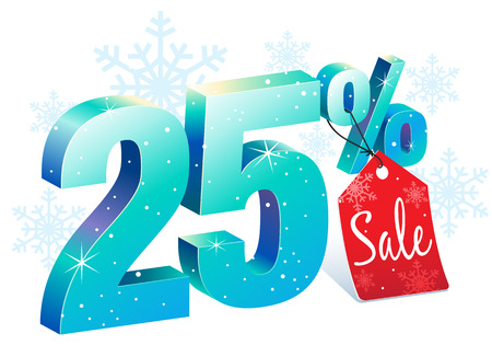 pricetag: Twenty Five Percent Winter Sale Discount
