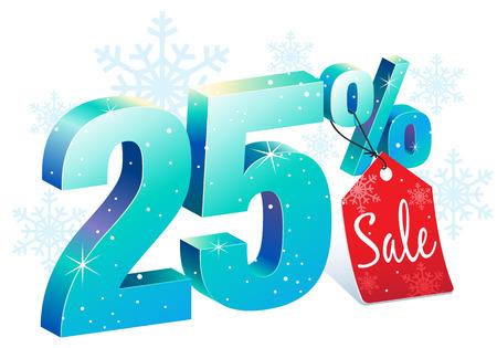 Twenty Five Percent Winter Sale Discount