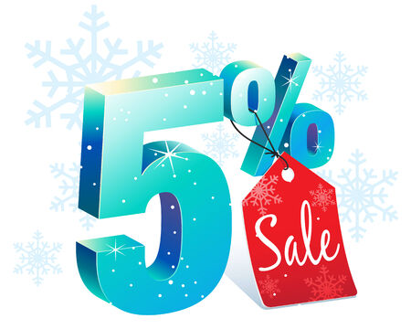Five Percent Winter Sale Discount