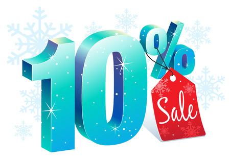 pricetag: Ten Percent Winter Sale Discount