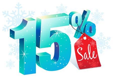 pricetag: Fifteen Percent Winter Sale Discount